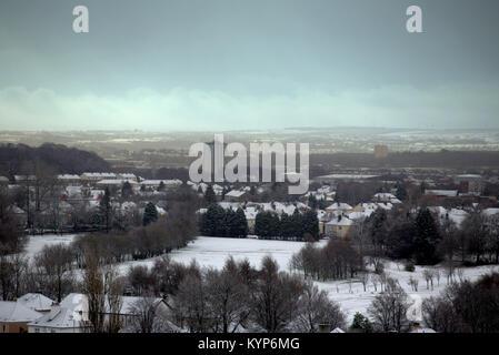 Glasgow, Ecosse, Royaume-Uni. 16 janvier, 2018. UK: Météo du jour au lendemain la neige comme la tempête polaire Banque D'Images