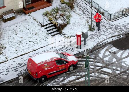 Glasgow, Ecosse, Royaume-Uni. 16 janvier, 2018. UK:météo du jour au lendemain de tempête de neige comme le Fionn Banque D'Images