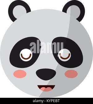 Panda Bear cute animal tête fermer les yeux cartoon Banque D'Images