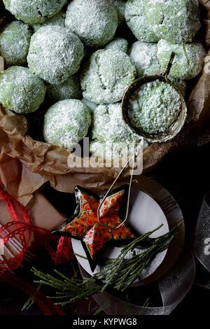 Biscuits de Noël Banque D'Images