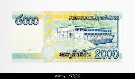 Laos 2000 Kip Bank Notes Banque D'Images