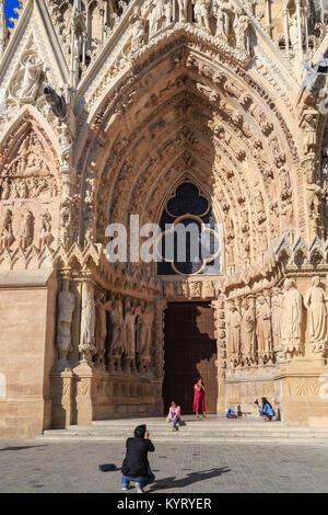 France, Marne (51), Reims, cathédrale Notre-Dame de Reims, classée patrimoine mondial de l'UNESCO, portail // France, Marne, Reims, Notre Dame cathedr