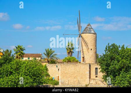 Moulin à Sineu, Majorque, Iles Baléares, Espagne, Europe Banque D'Images