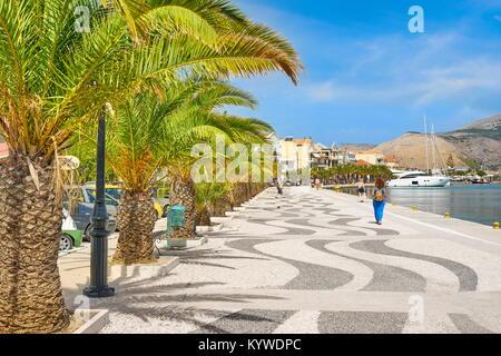 Promenade de la ville d'Argostoli, l'île de Céphalonie, Grèce Banque D'Images