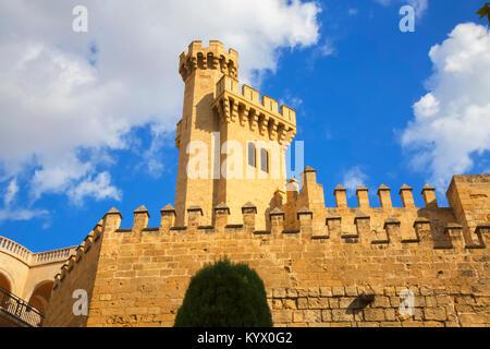 Les murs de l'Almudaina, Palma de Mallorca, Majorque, Iles Baléares, Espagne, Europe Banque D'Images