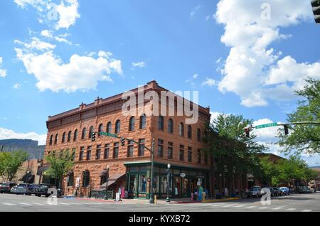 La vieille ville historique de l'avenue principale de l'ouest dans la région de Durango, dans le Colorado, USA Banque D'Images