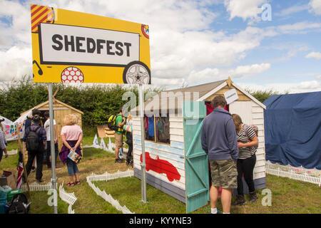 Dans Shedfest Carfest Nord en raison d'Bolesworth Château, Cheshire, Royaume-Uni. Banque D'Images