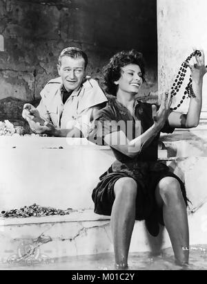 Légende de l'PERDU 1957 Batjac Productions film avec Sophia Loren et John Wayne Banque D'Images