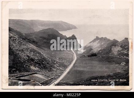 La Vallée des Roches, près de Lynton, Devon N., Angleterre, Royaume-Uni, dans les années 1920 Banque D'Images