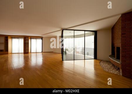 Bel appartement chambre vide, imterior avec windows Banque D'Images