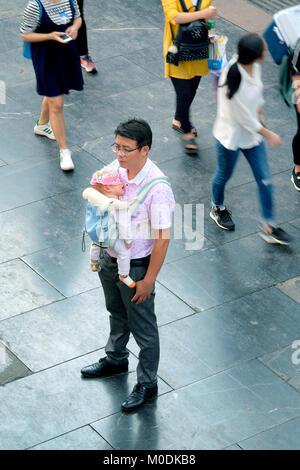 La rue piétonne Zhengyang, Guilin, Guangxi Province, China Banque D'Images