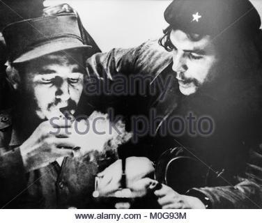 """Photographie de Ernesto """"Che"""" Guevara et Fidel Castro Banque D'Images"""