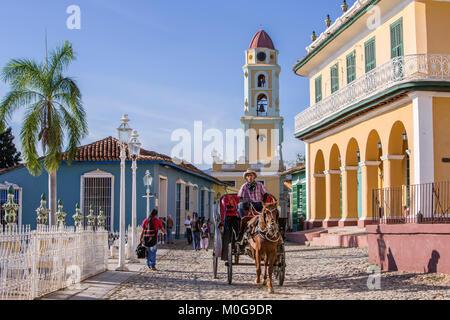 Plaza Mayor à Trinidad, Cuba Banque D'Images