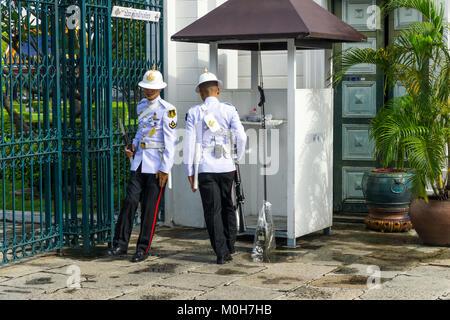 Asie,Thaïlande,Bangkok,Grand Palais Royal,guards Banque D'Images