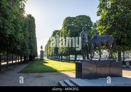 Paris, France - 21 mai 2017: Monument à la mémoire de la Force expéditionnaire russe engagé en France durant la Banque D'Images