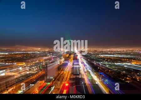 Riyadh skyline at night #4 Banque D'Images