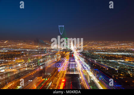Riyadh skyline at night #5 Banque D'Images