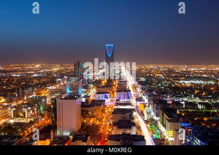 Riyadh skyline at night #1 Banque D'Images