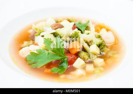 Soupe minestrone italien Banque D'Images
