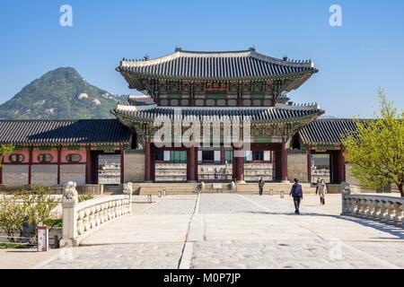 La Corée du Sud, Séoul, Jongno-gu district,Gyeongbokgung Palace ou le Palais de Gyeongbok Banque D'Images