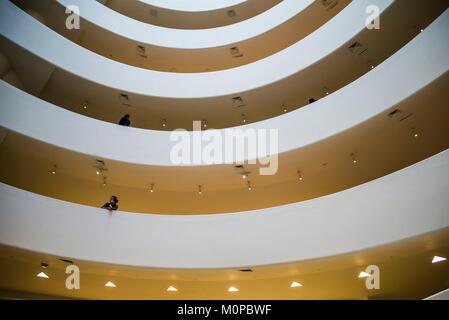 United States,New York,New York,Upper East Side,Guggenheim Museum, lobby intérieur