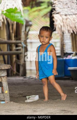 Luzon aux Philippines, la Province d'Albay,,enfant,Tiwi