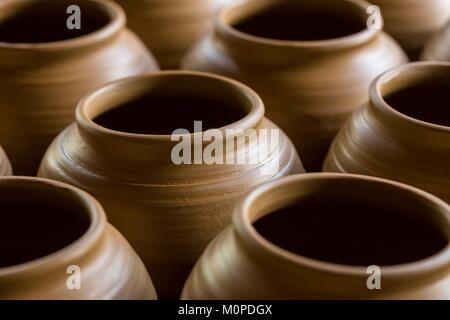 Luzon aux Philippines, la Province d'Albay,céramique,tissu,Tiwi