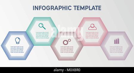 Infographie entreprise modèle. Banque D'Images