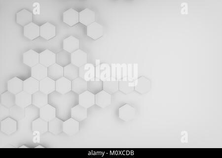 Le rendu 3D de résumé contexte hexagonal Banque D'Images