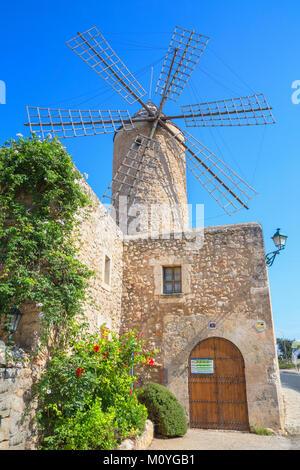 Moulin à Sineu,Espagne Banque D'Images