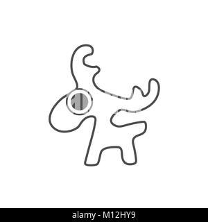 Deer vecteur , conception graphique logo Banque D'Images