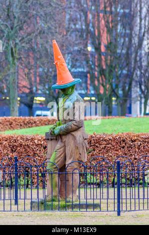 Glasgow, Ecosse, Royaume-Uni. 26 janvier, 2018. La Statue de James Watt en face de la People's Palace à Glasgow Banque D'Images