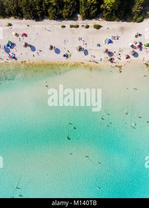 La Croatie, Dalmatie du Nord, de la côte dalmate, archipel de Zadar, l'île de Dugi Otok, Sakarun beach (vue aérienne) Banque D'Images