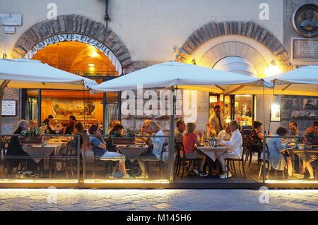 L'Europe,Italie,Toscane,Florence,Restaurant,Bar,salle à manger dans la vieille ville Banque D'Images