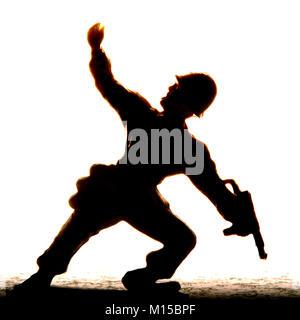 Silhouette d'un soldat du prince Banque D'Images