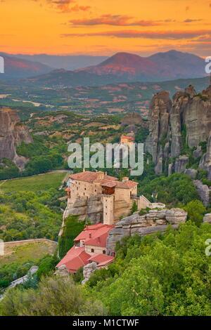 Monastère de Meteora, Grèce Banque D'Images