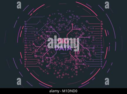 Concept de big data Banque D'Images