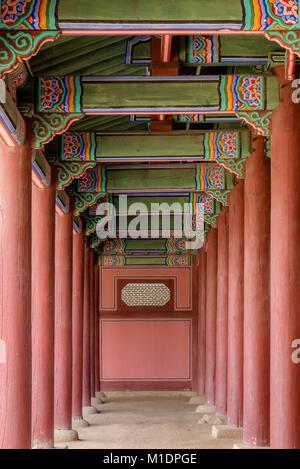Palais royal de Gyeongbokgung, Séoul, Corée du Sud - ancienne résidence de l'empereur de Corée au coeur de la capitale Banque D'Images