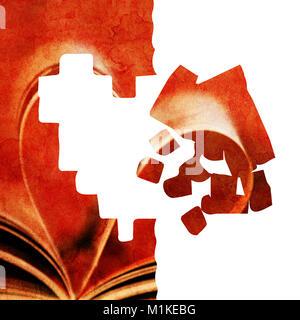 Grunge abstract illustration avec de nombreuses formes cœur Banque D'Images