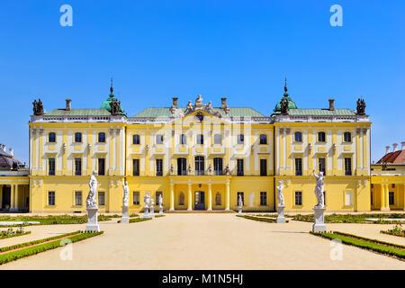 Palais Branicki et médicaux Hôpitaux Cliniques Université de Bialystok en Pologne. L'Architecture des demeures baroques Banque D'Images