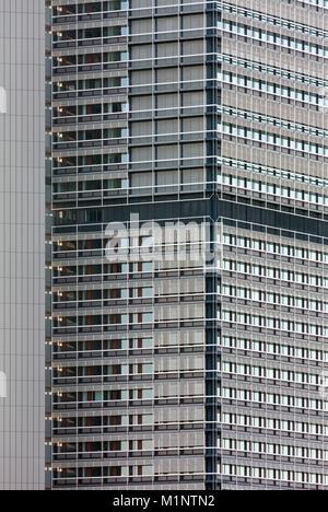 """Bonn, Regierungsviertel (Bundesviertel, Parlamentsviertel Abgeordnetenhochhaus), Ehemaliges """"Langer Eugen"""", 1966-1969 Egon Eiermann, erbaut von heute"""