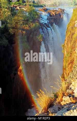 Chute d'Epupa, rivière Kunene, kaokoveld, Namibie, Epupa-Wasserfall, Fluss Kaokoveld, Kunene