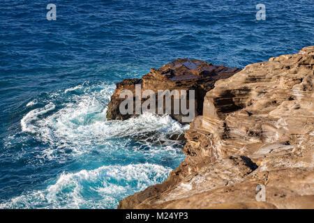 Vue mer à partir de Lanai Lookout à Honolulu, Hawaï Banque D'Images