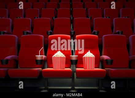 Le rendu 3D représentant le concept de sièges réservés. Banque D'Images