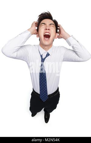 Douleur faciale de jeunes hommes Banque D'Images