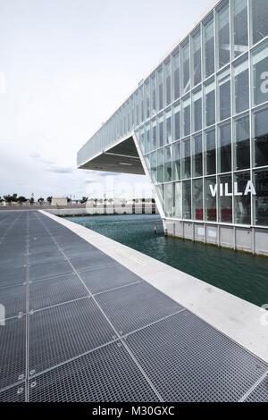 Marseille, France, l'architecture moderniste de la Villa Florida Conference Center conçu par Stefano Boeri (2013) Banque D'Images