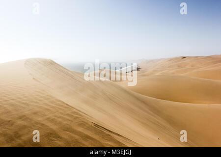 Sandwich Harbour, où le désert rencontre l'océan, la Namibie, l'Afrique