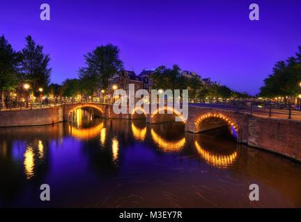 Canaux d'Amsterdam prises en 2015 Banque D'Images