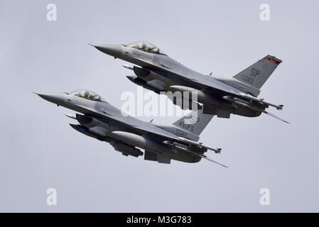 Lockheed Martin F-16 Fighting Falcon d'avions de chasse de l'United States Air Force. General Dynamics F16C. 480e Escadron de chasse