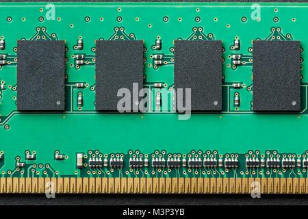 Mise à plat horizontal fond graphique de frontière RAM DIMM module puce mémoire de l'ordinateur